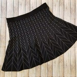 Sophie Max Fit and Flare Geometric Skirt